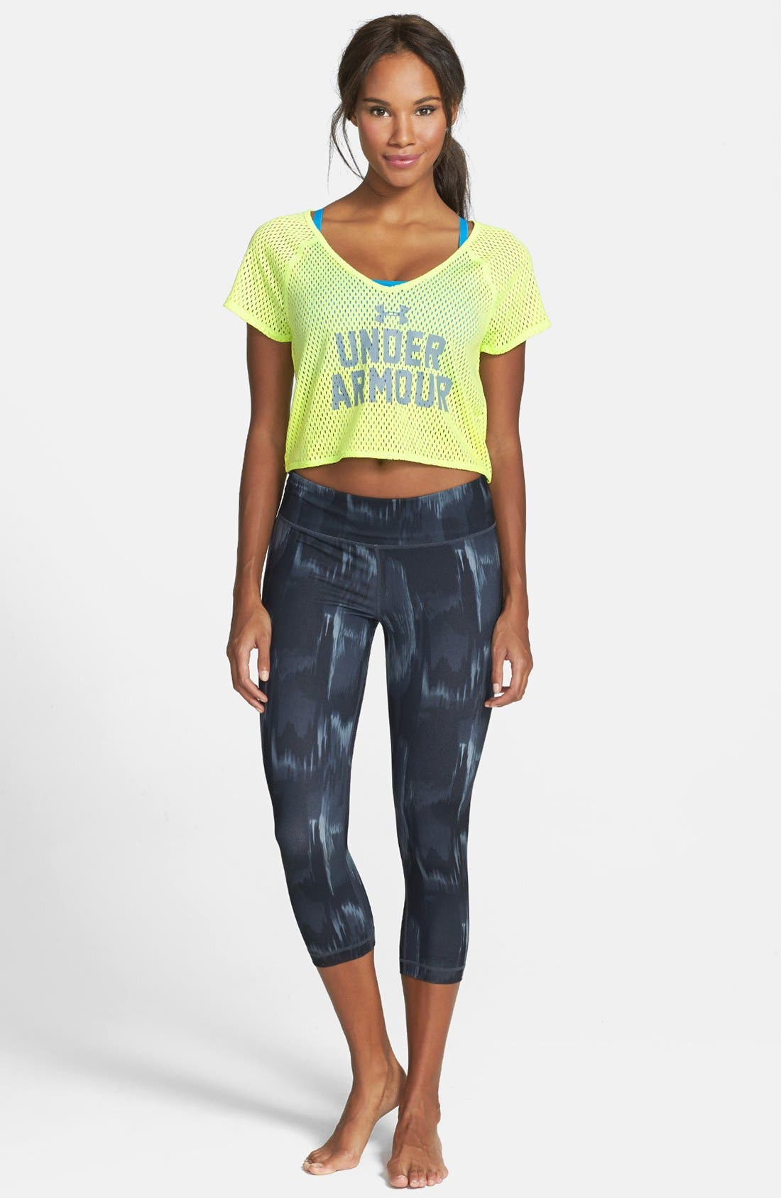 Alternate Image 3  - Under Armour 'Bolo' Mesh Crop Tee