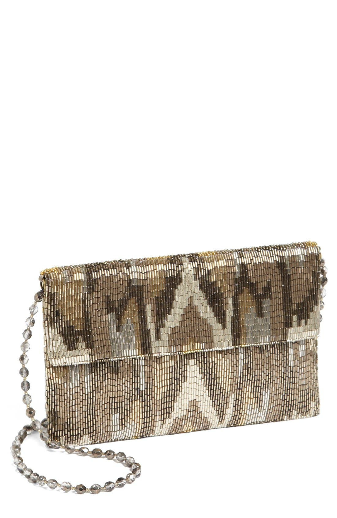Alternate Image 1 Selected - Moyna Camo Flap Silk Clutch