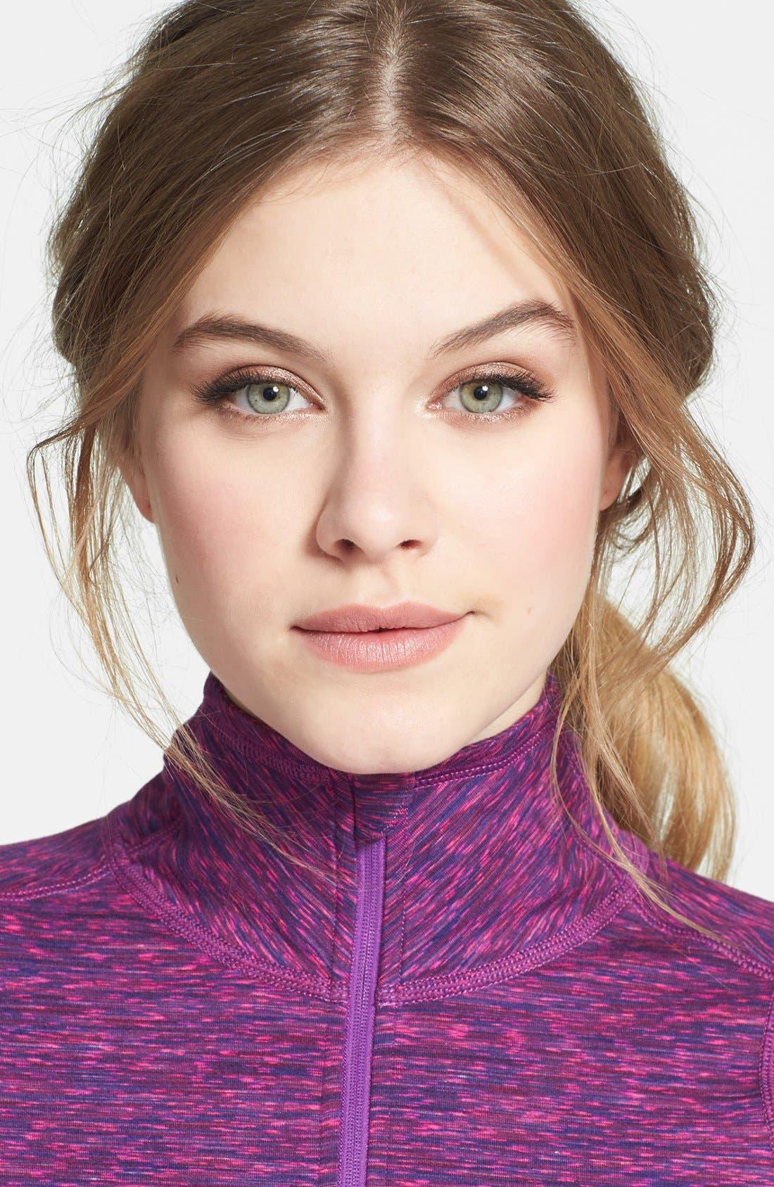 Alternate Image 4  - Zella 'Good Sport' Space Dye Half Zip Pullover