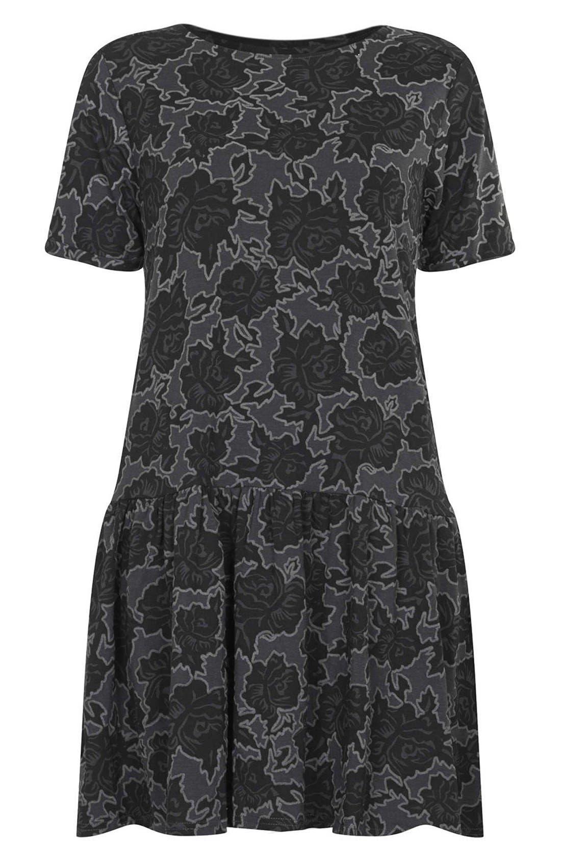 Alternate Image 3  - Topshop Textured Rose Tunic Dress