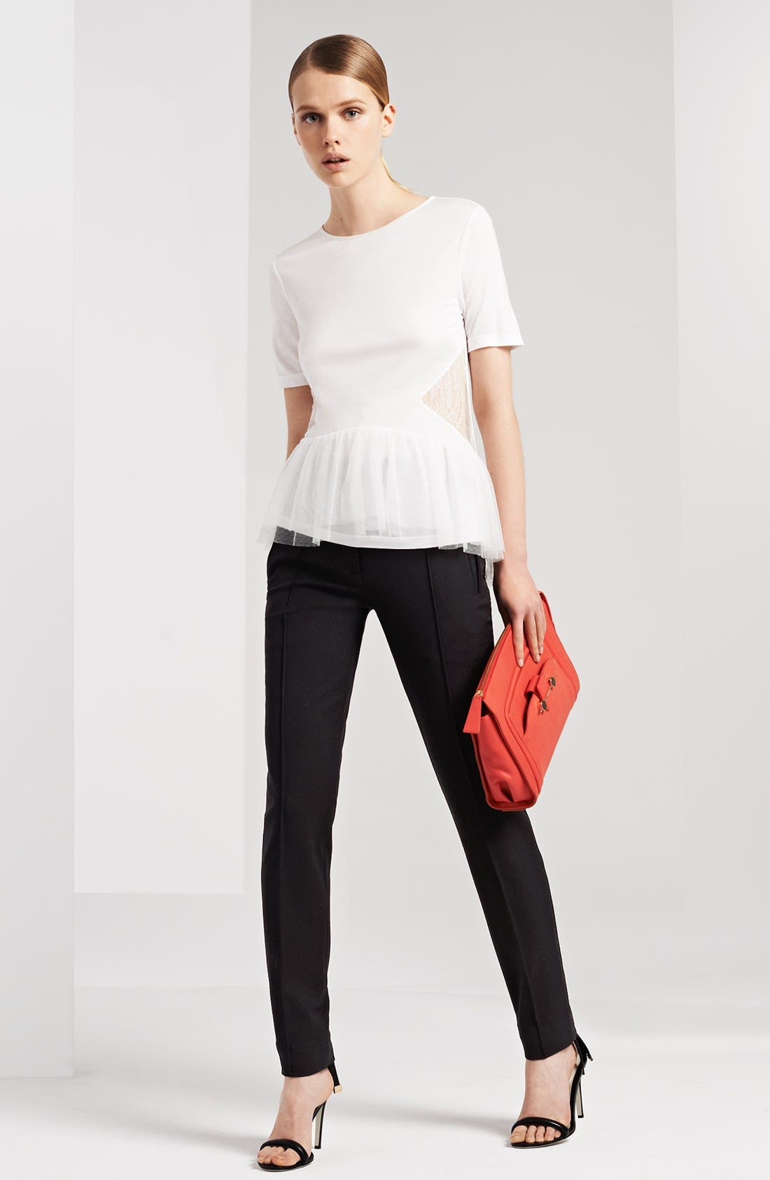 Alternate Image 4  - Jason Wu Lace Inset Peplum Tee