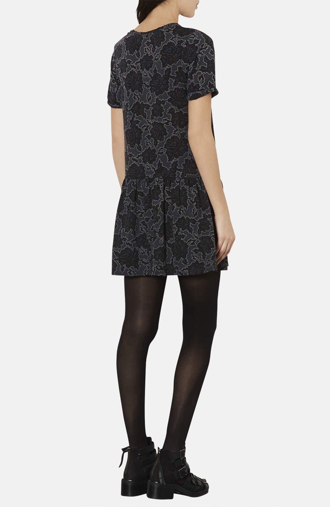 Alternate Image 2  - Topshop Textured Rose Tunic Dress