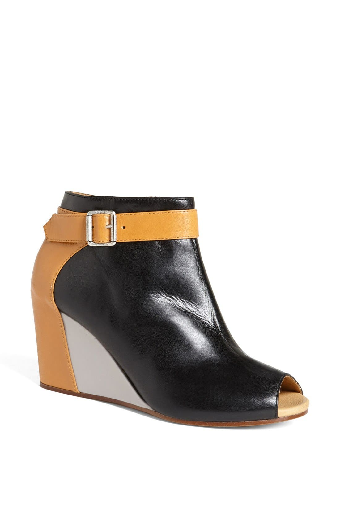 Alternate Image 1 Selected - MM6 Maison Margiela Peep Toe Bootie (Online Only)