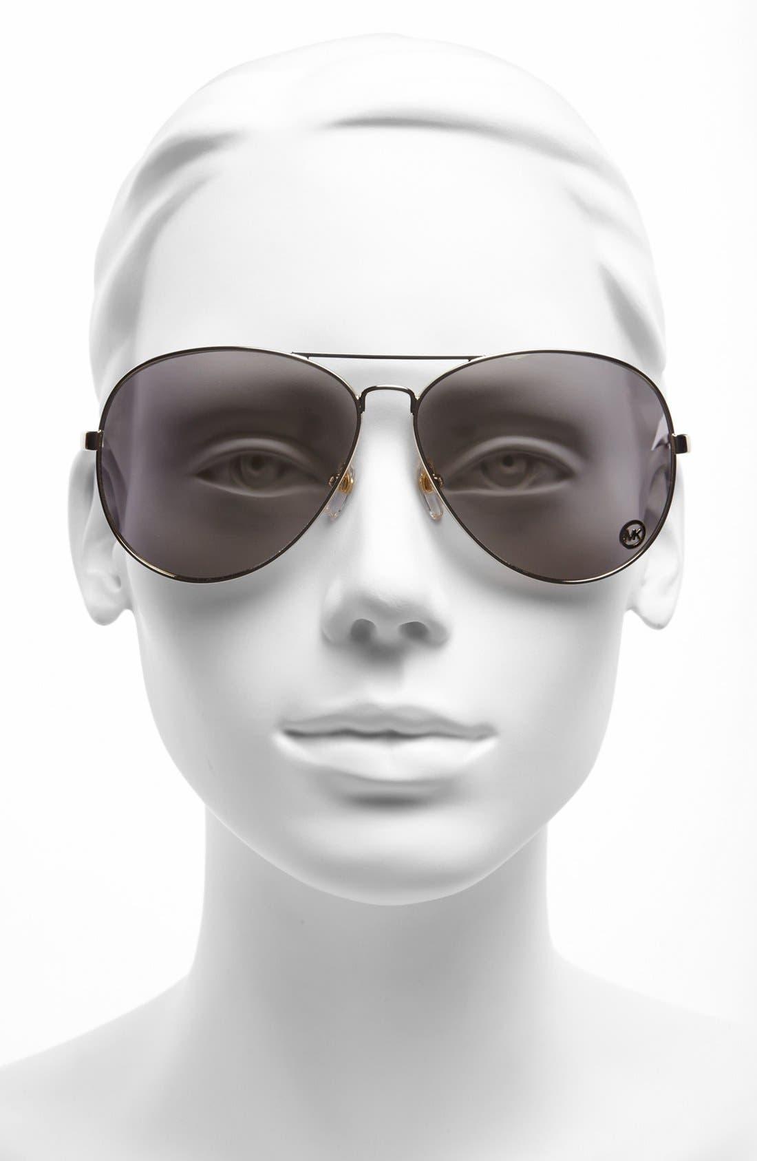 Alternate Image 2  - MICHAEL Michael Kors 'Lola' 63mm Aviator Sunglasses