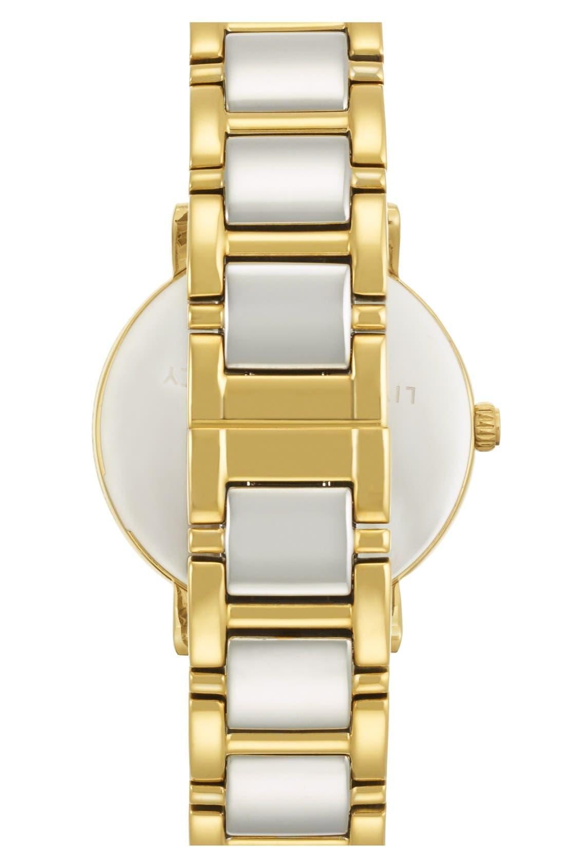 Alternate Image 2  - kate spade new york 'gramercy' round bracelet watch, 34mm
