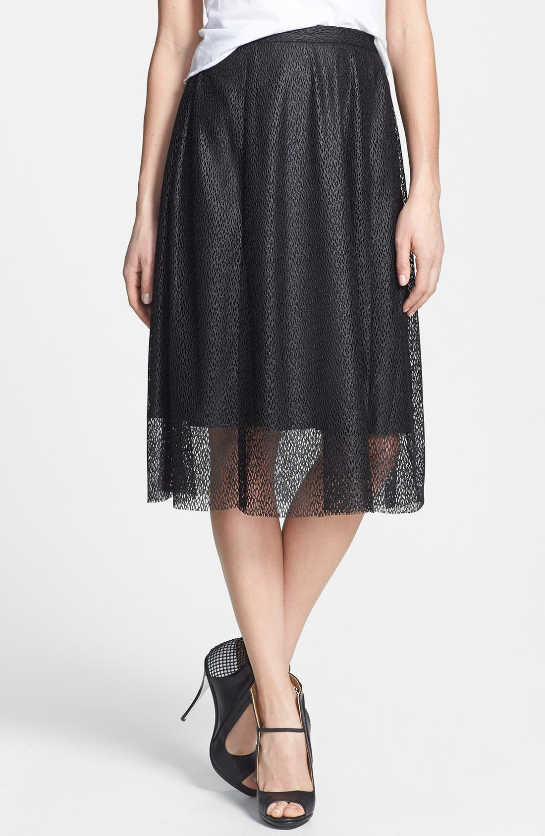 Alternate Image 1 Selected - Tildon Textured Woven Midi Skirt