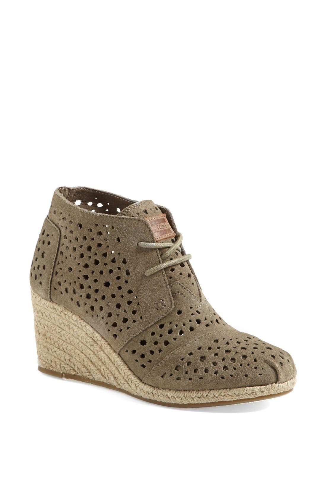 Alternate Image 1 Selected - TOMS 'Moroccan Cutout' Desert Bootie (Women)