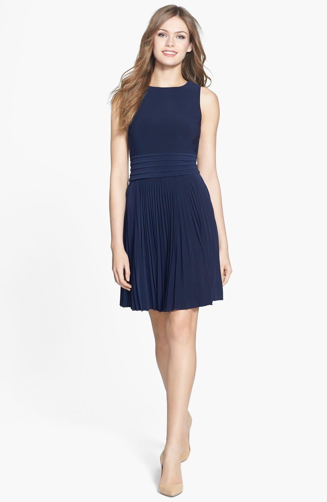 Alternate Image 3  - Eliza J Pleated Stretch Woven Dress