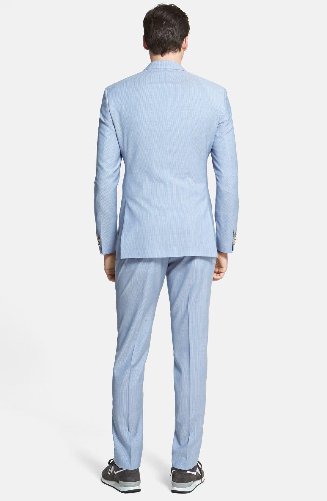Alternate Image 2  - BOSS HUGO BOSS 'James/Sharp' Trim Fit Virgin Wool Suit
