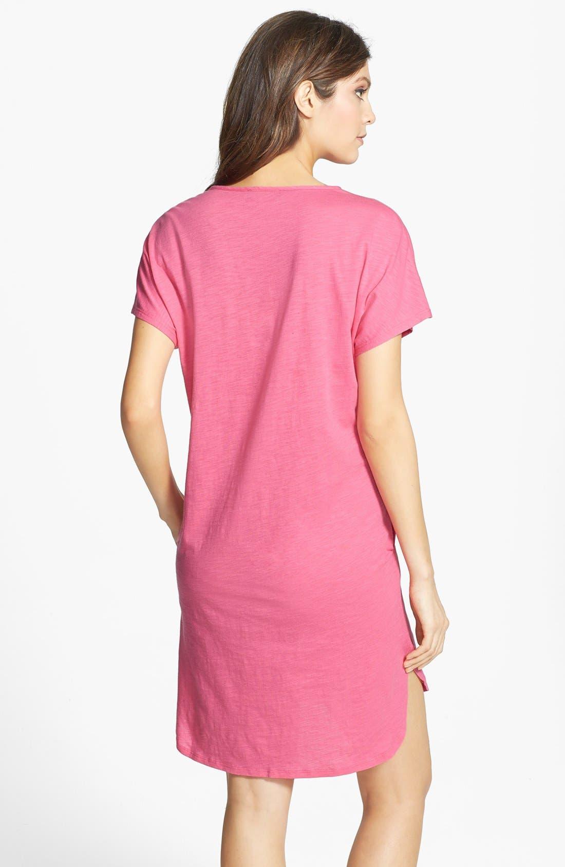 Alternate Image 2  - Lauren Ralph Lauren Knit Jersey Sleep Shirt