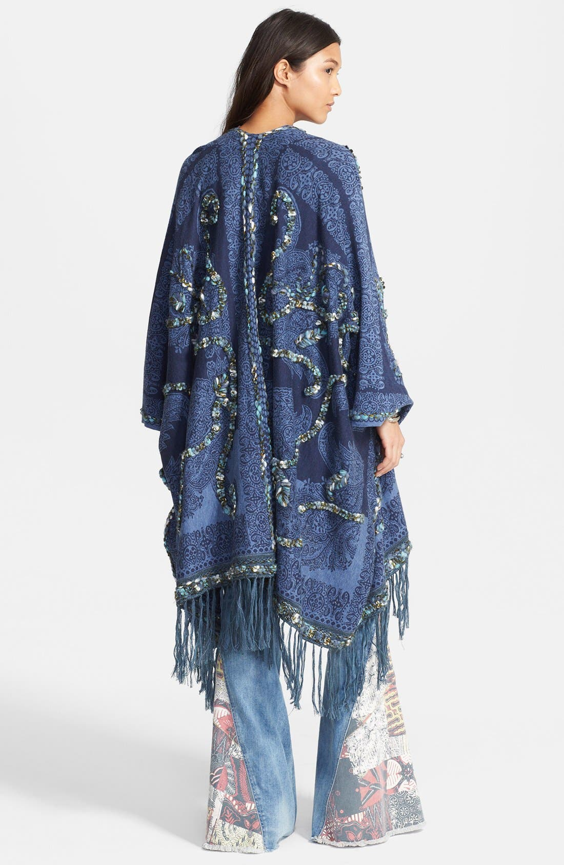 Alternate Image 2  - Free People Embroidered Fringe Cardigan