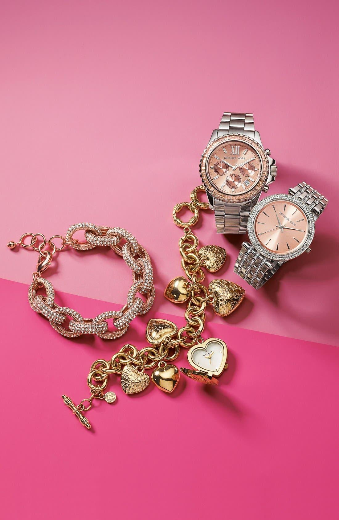Alternate Image 6  - Michael Kors 'Darci' Crystal Bezel Bracelet Watch, 39mm