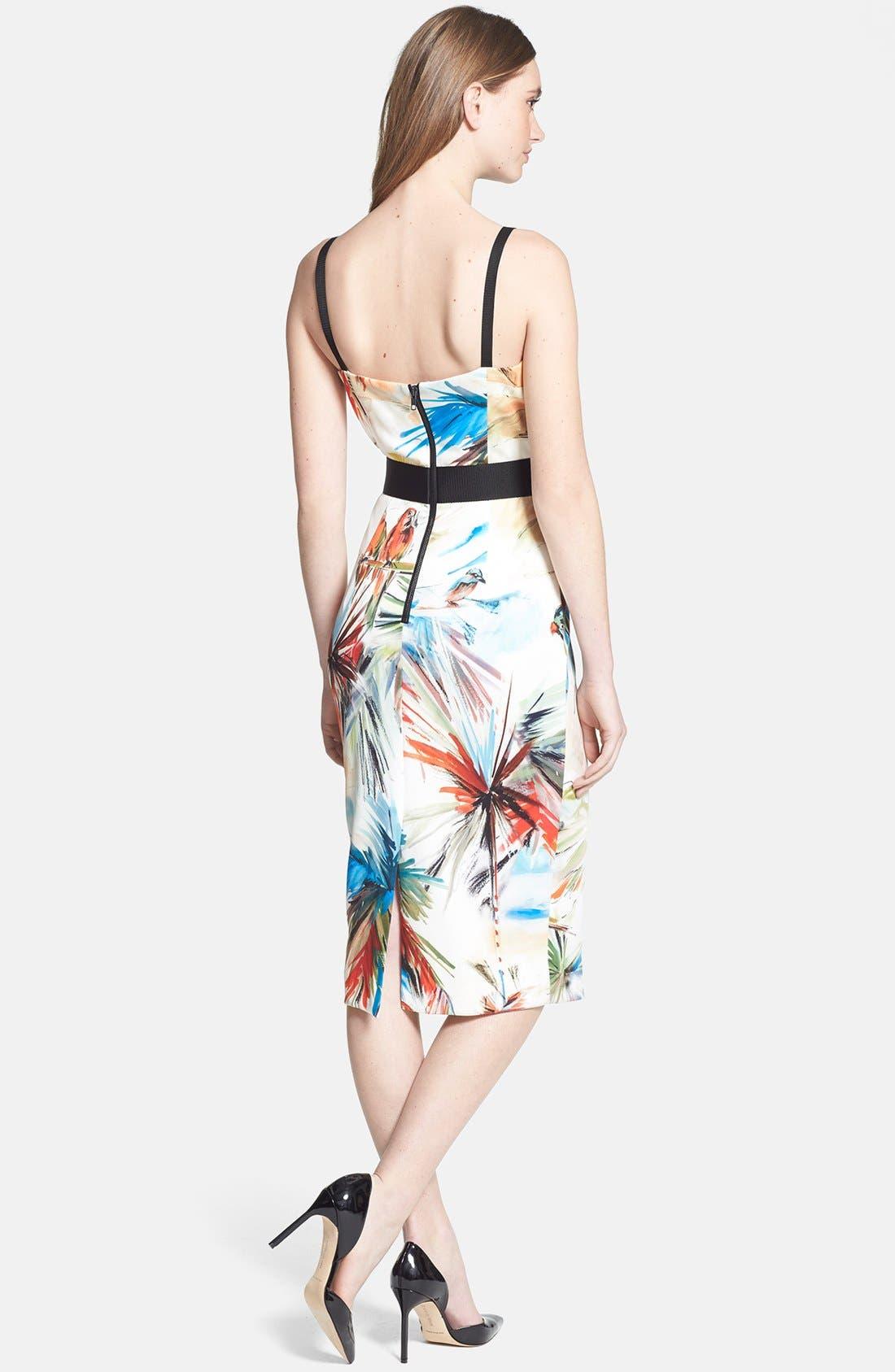 Alternate Image 2  - Milly Contrast Trim Print Dress