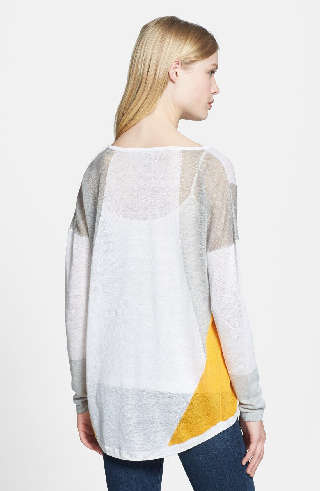 Alternate Image 2  - Trouvé Sheer Colorblock Sweater