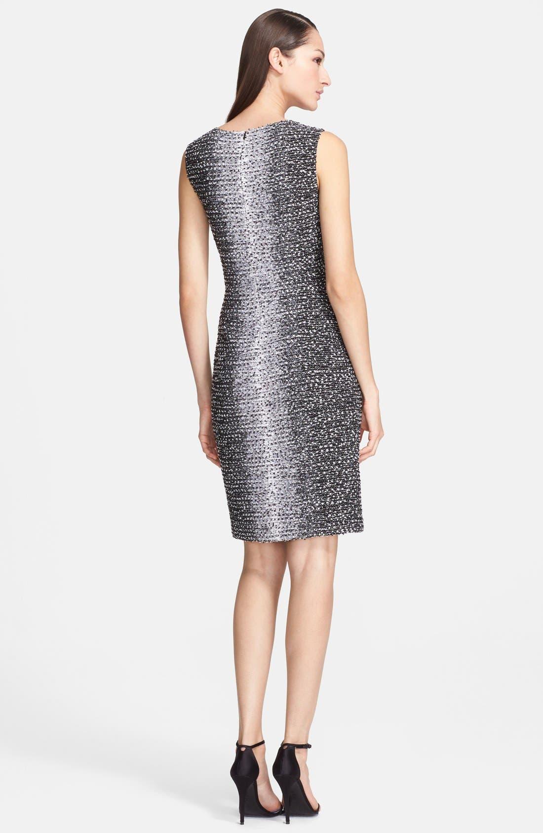 Alternate Image 2  - St. John Collection Ombré Eyelash Knit Sheath Dress