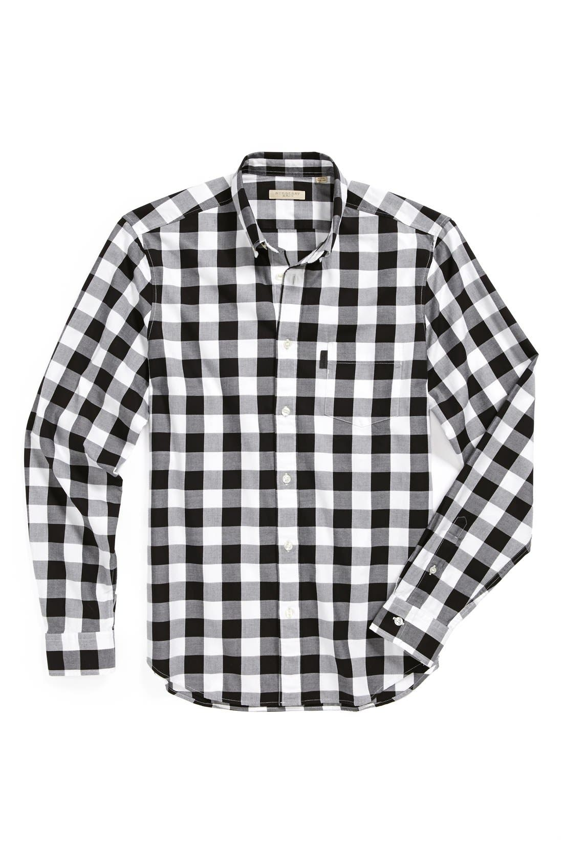 Alternate Image 4  - Burberry Brit 'Fred' Gingham Sport Shirt