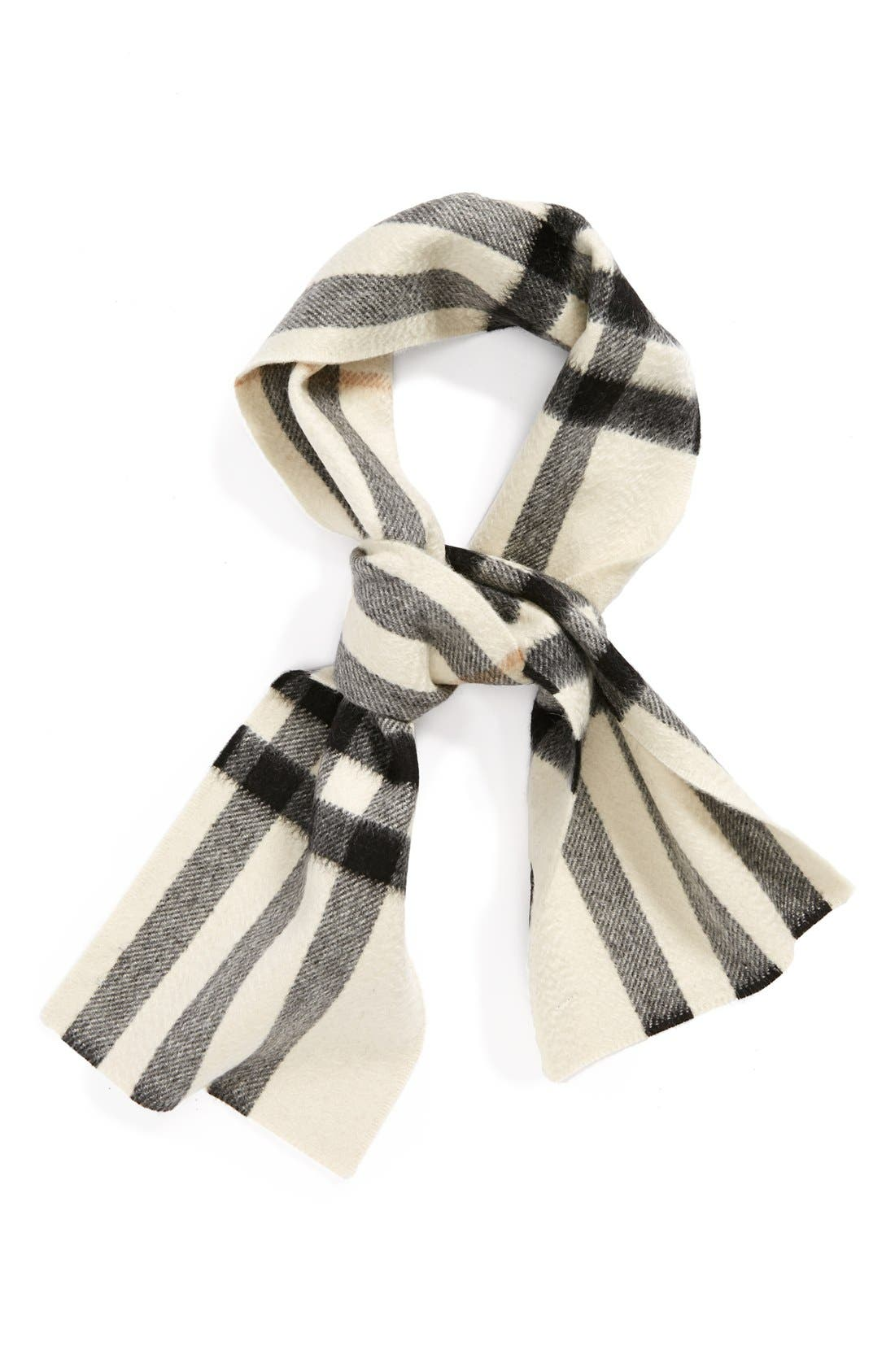 Alternate Image 1 Selected - Burberry Check Cashmere Felt Scarf