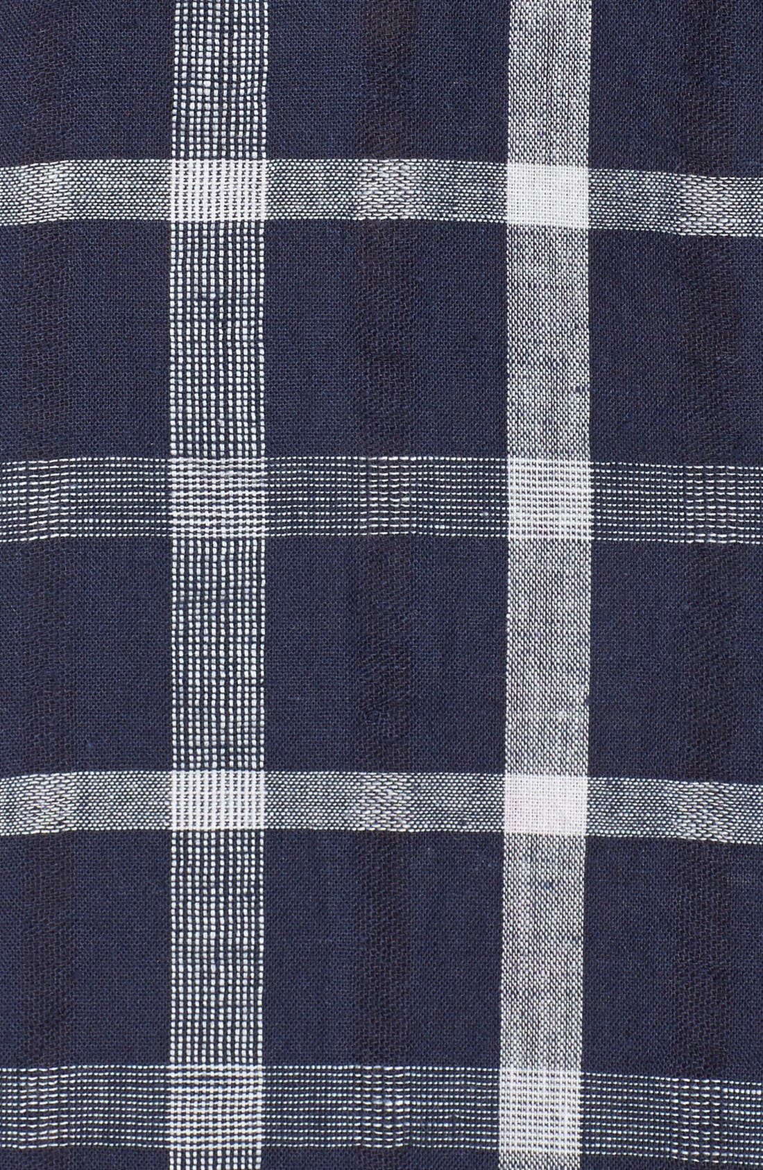 Alternate Image 3  - Sandra Ingrish Windowpane Plaid Boyfriend Shirt