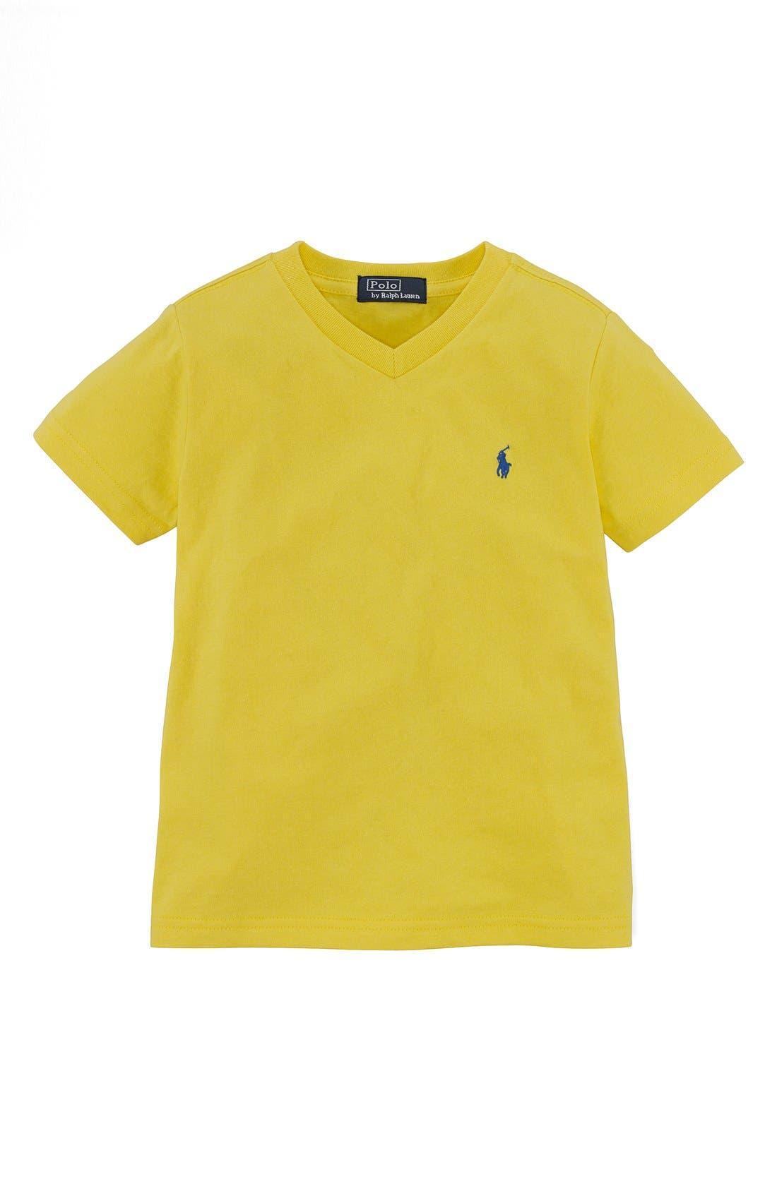 Alternate Image 1 Selected - Ralph Lauren V-Neck T-Shirt (Toddler Boys)