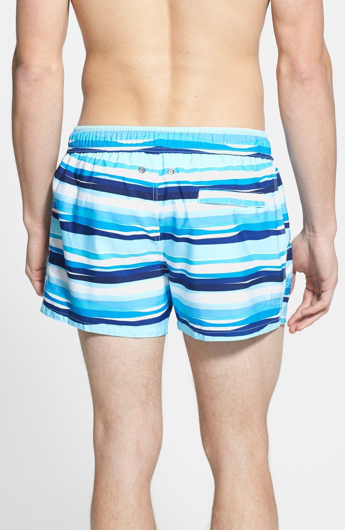 Alternate Image 2  - 2(x)ist 'Ibiza' Stripe Swim Trunks