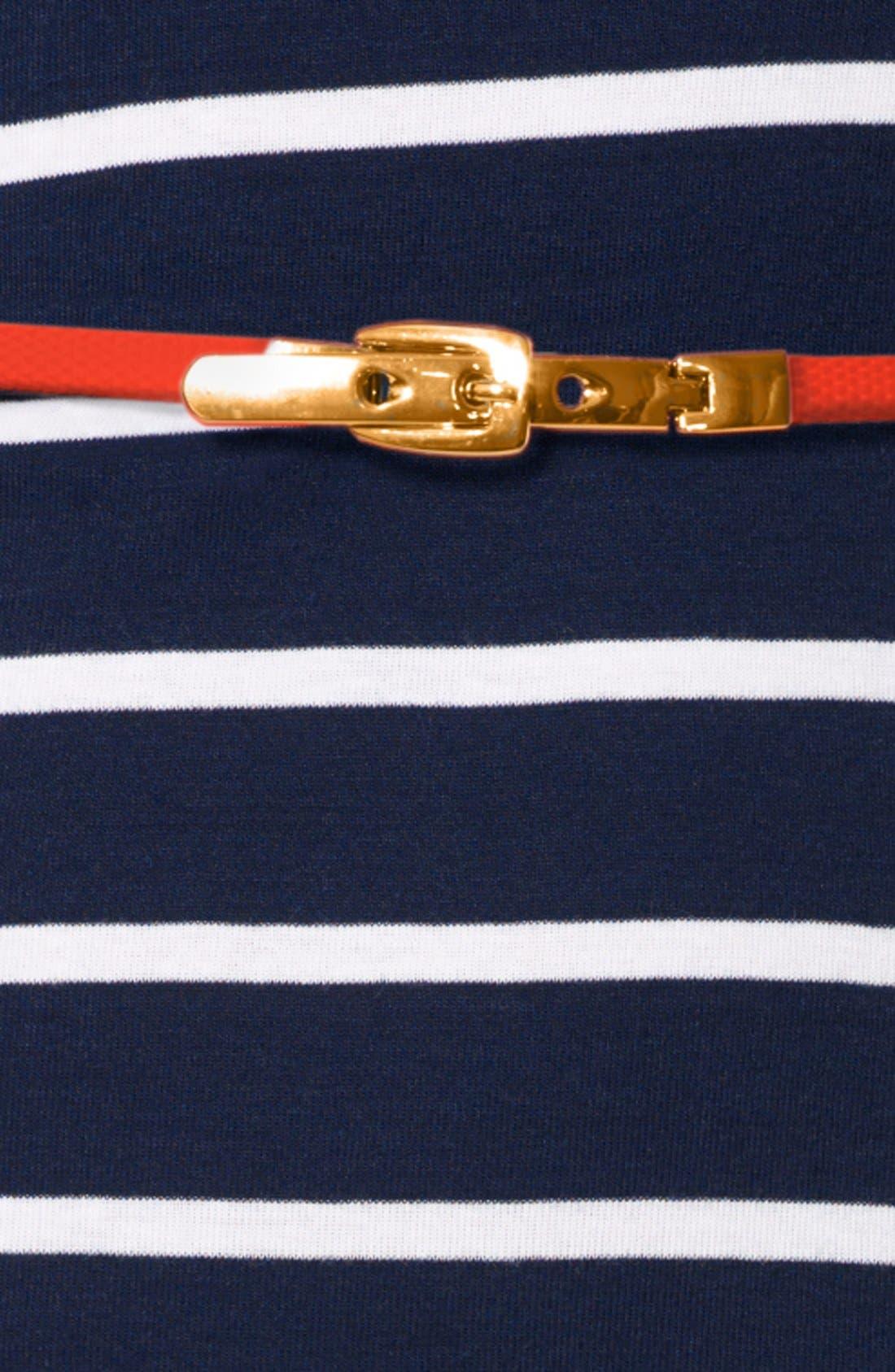 Alternate Image 3  - Lauren Ralph Lauren Stripe Boat Neck Cotton Dress