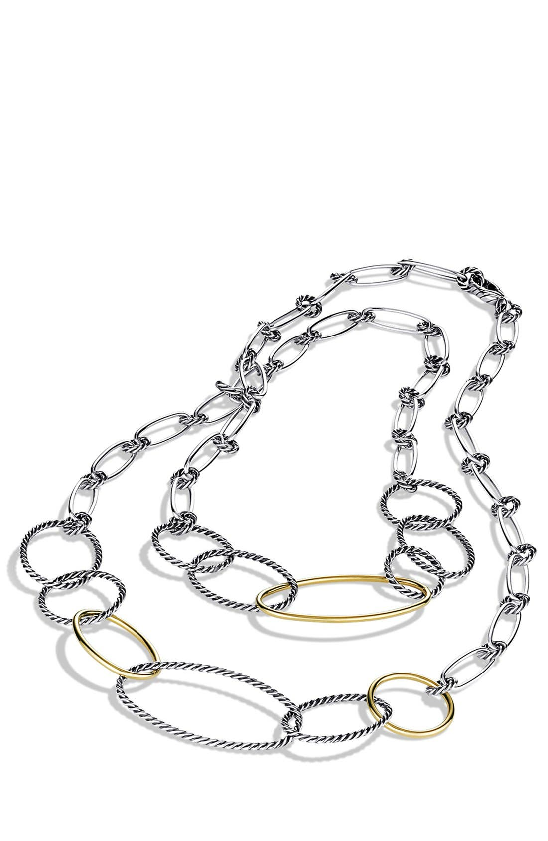 'Mobile' Link Necklace with Gold,                             Alternate thumbnail 2, color,                             Two Tone