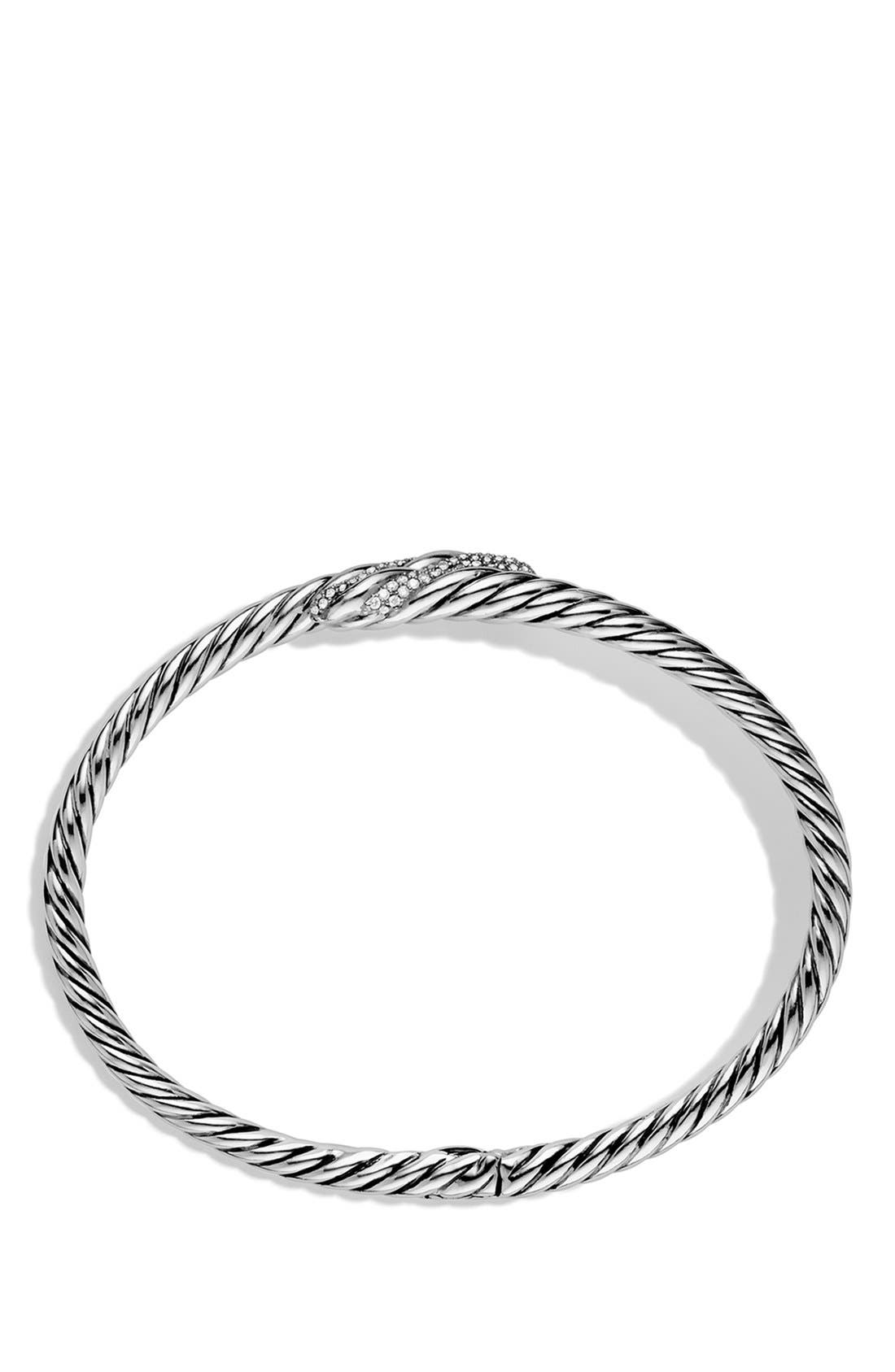 Alternate Image 2  - David Yurman 'Willow' Single Row Bracelet with Diamonds
