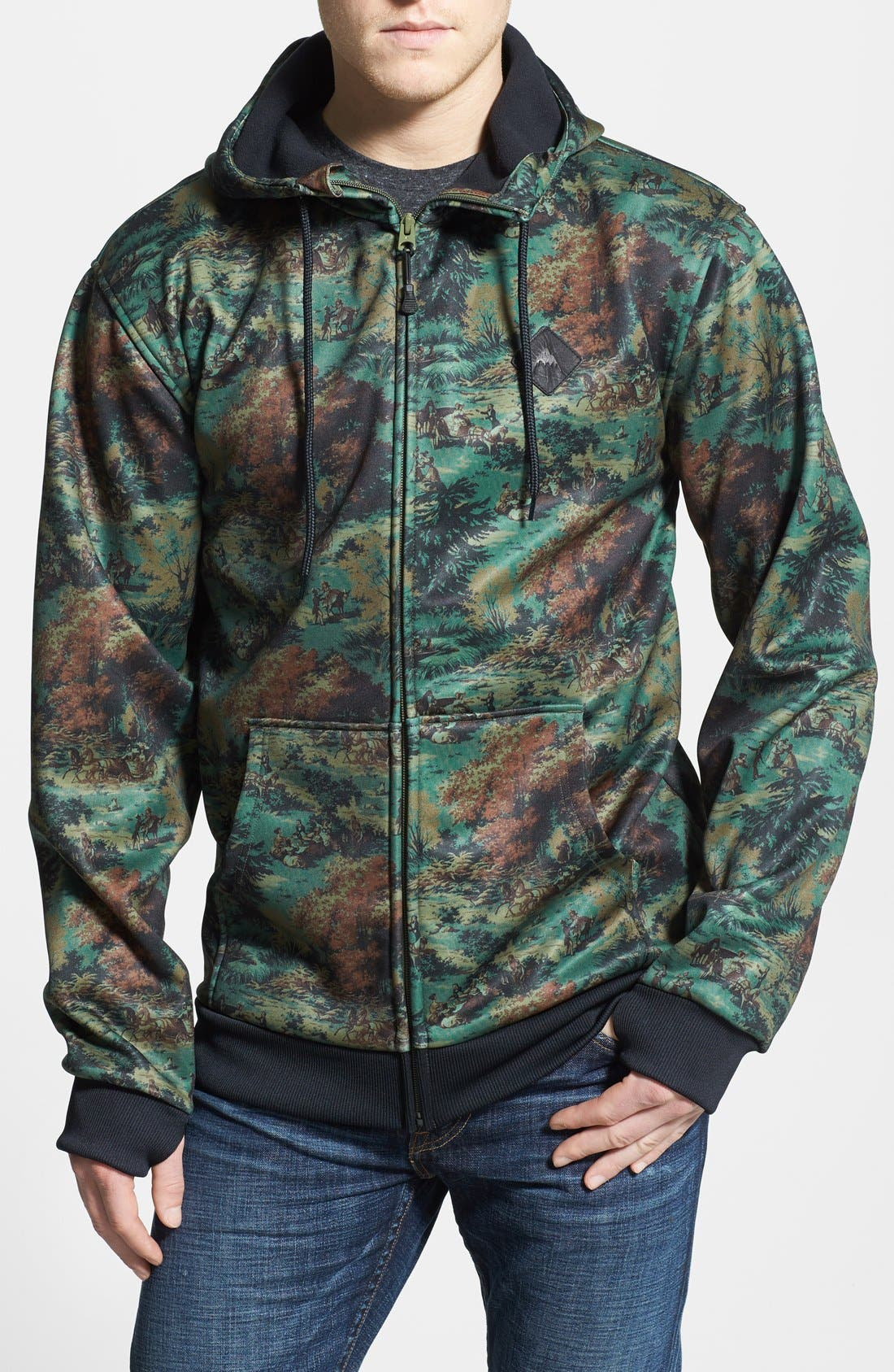 Alternate Image 1 Selected - Burton Water Resistant Full Zip Fleece Hoodie