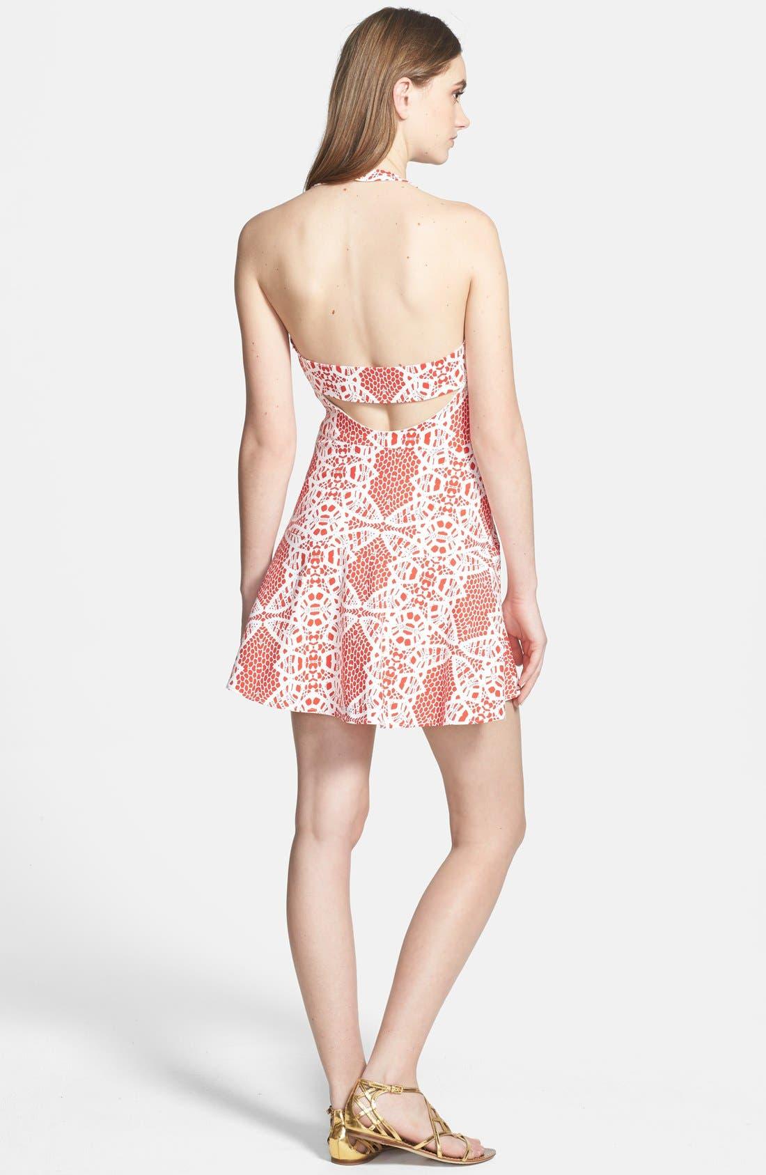 Alternate Image 2  - Parker 'Leona' Cotton Blend Halter Dress