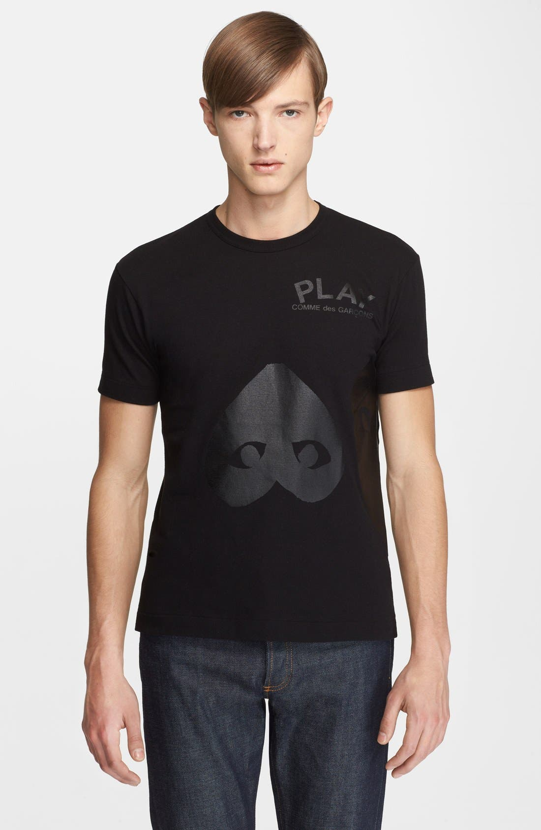 Alternate Image 1 Selected - Comme des Garçons PLAY Inverted Heart Print T-Shirt