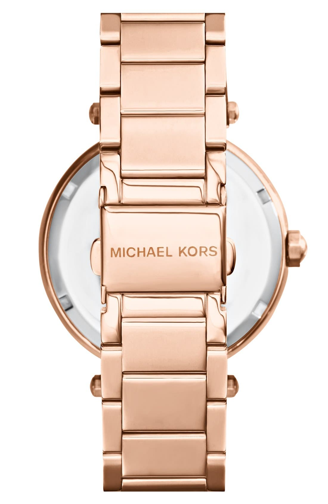 Alternate Image 2  - Michael Kors Parker Logo Dial Bracelet Watch, 39mm
