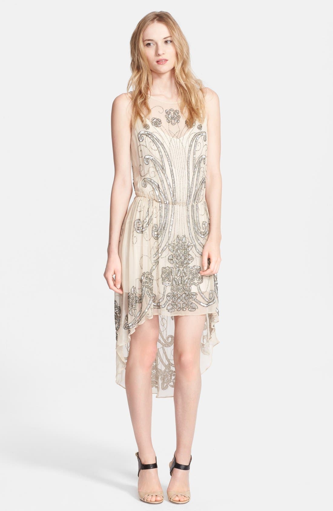 Alternate Image 1 Selected - Haute Hippie Embellished Silk Dress