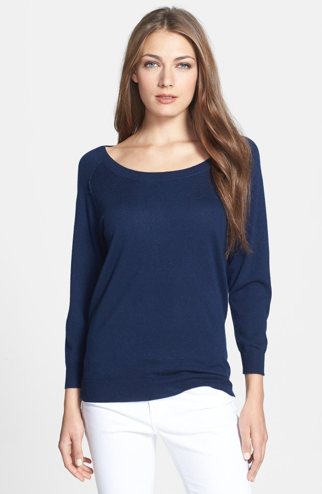 Alternate Image 1 Selected - Joie 'Bronx' Elbow Patch Slouchy Sweater