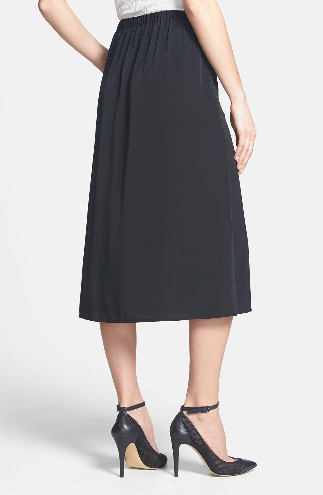 Alternate Image 2  - Leith Side Slit Woven Midi Skirt