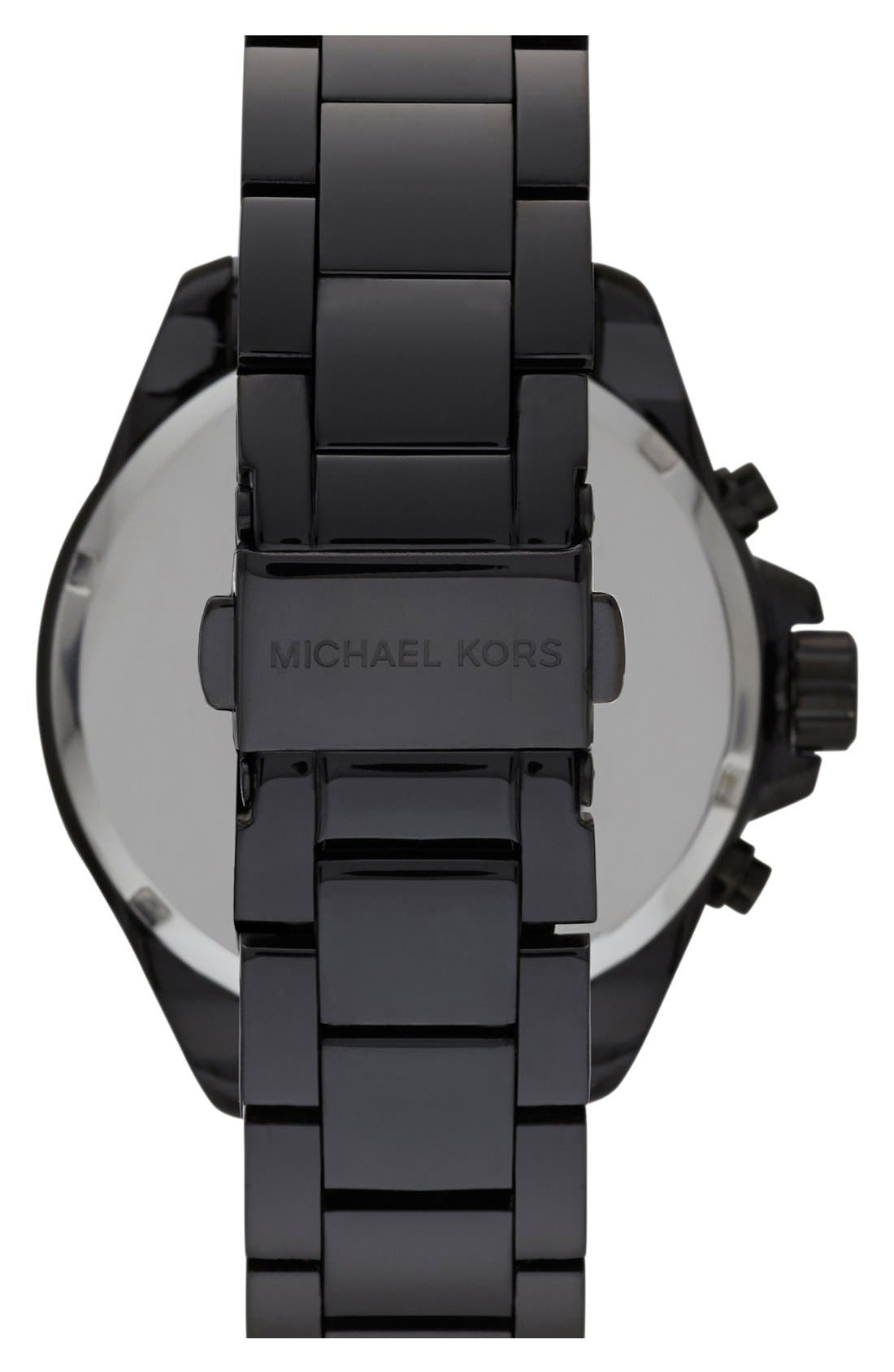 Alternate Image 2  - Michael Kors 'Wren' Pavé Dial Chronograph Bracelet Watch, 42mm