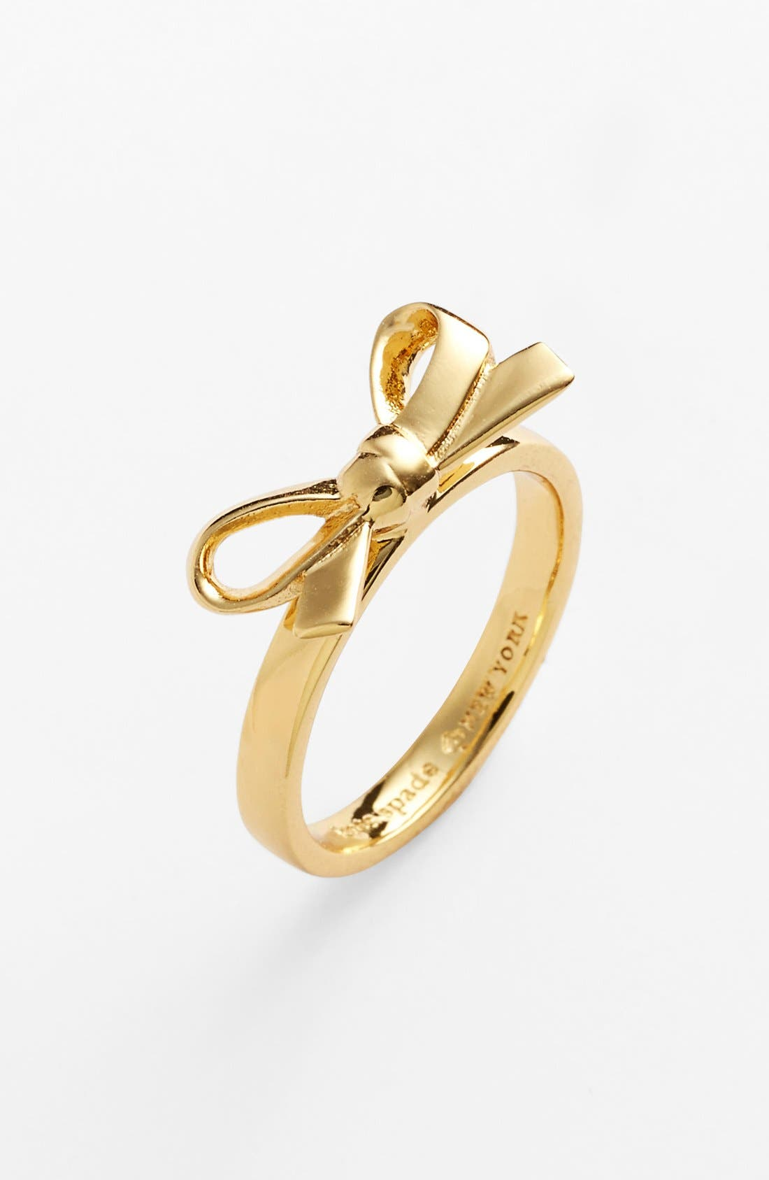 'skinny mini' bow ring,                         Main,                         color, Gold Bow