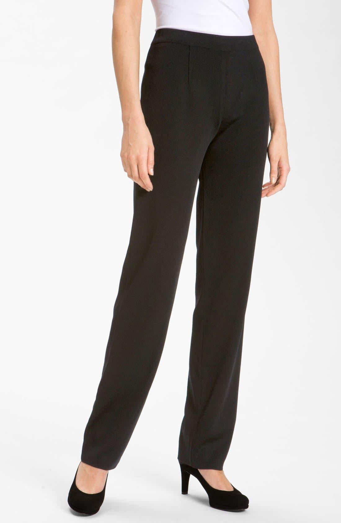 Main Image - Misook Straight Leg Knit Pants (Petite)