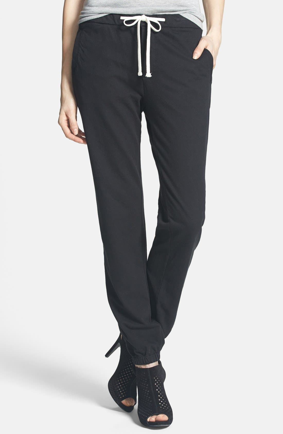 Alternate Image 1 Selected - James Perse Twill Track Pants