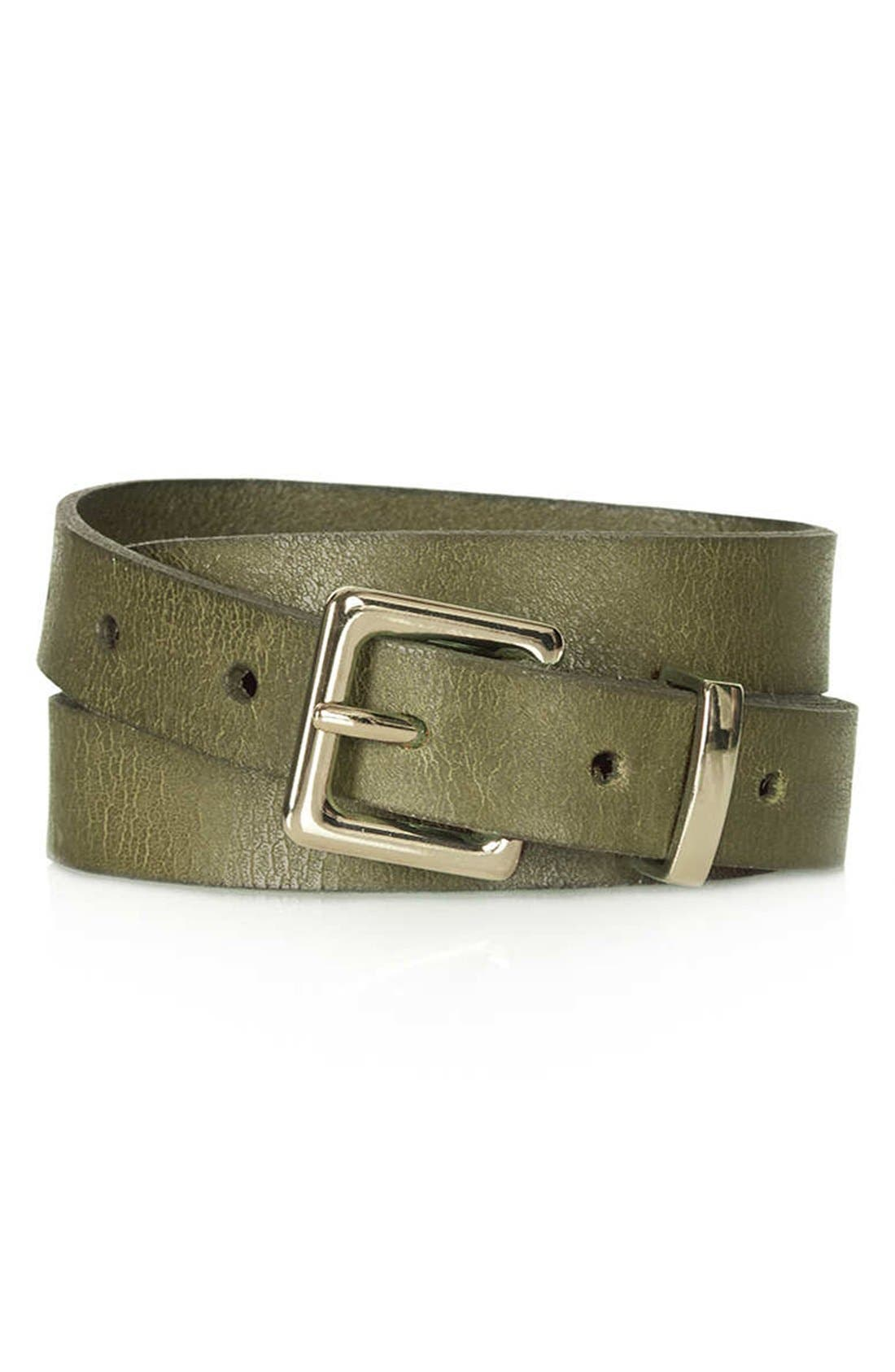 Alternate Image 1 Selected - Topshop 'Cracked Clean Western' Belt