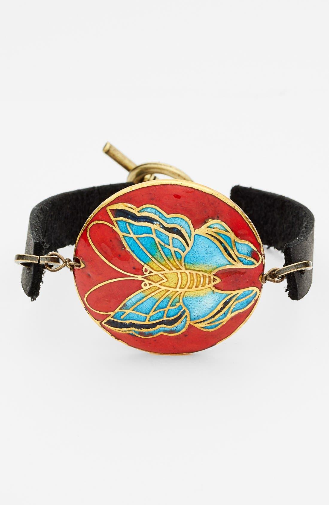 Main Image - Bonnie Jonas Butterfly Cloisonné Bracelet