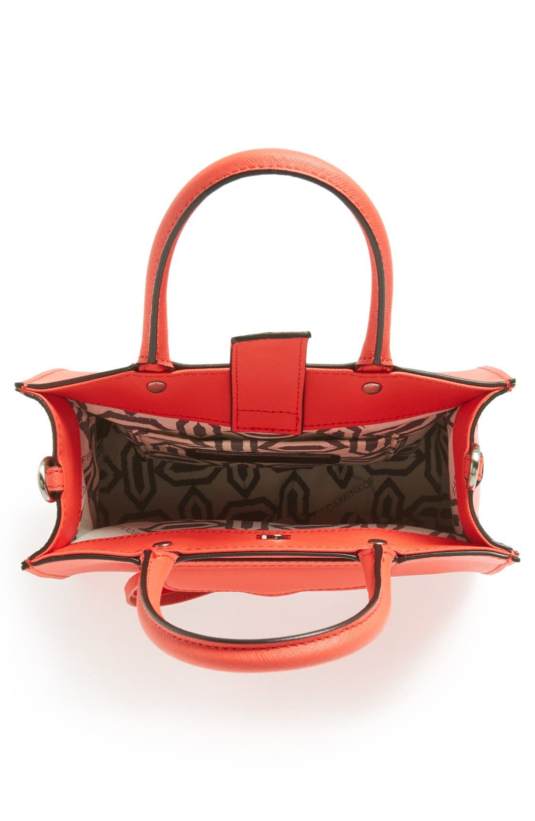 'MAB Mini' Leather Tote,                             Alternate thumbnail 3, color,                             Hot Red