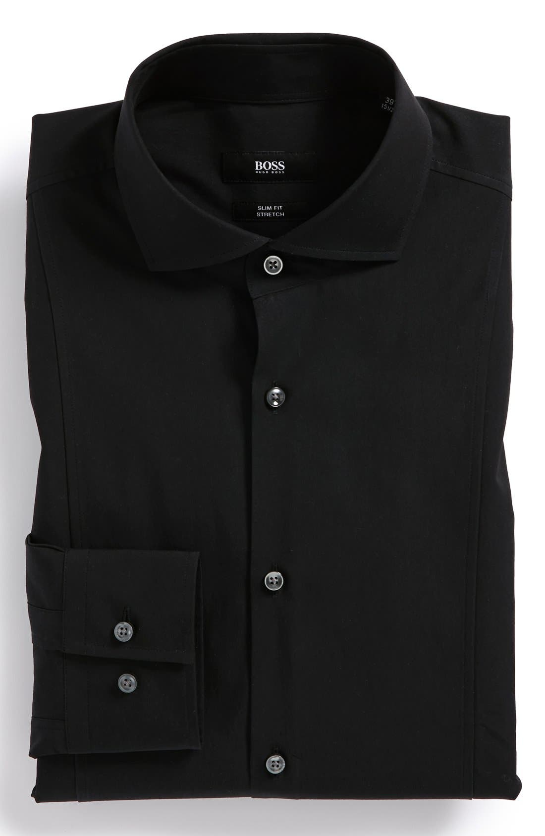 Alternate Image 1 Selected - BOSS HUGO BOSS 'Philip' Slim Fit Stretch Dress Shirt