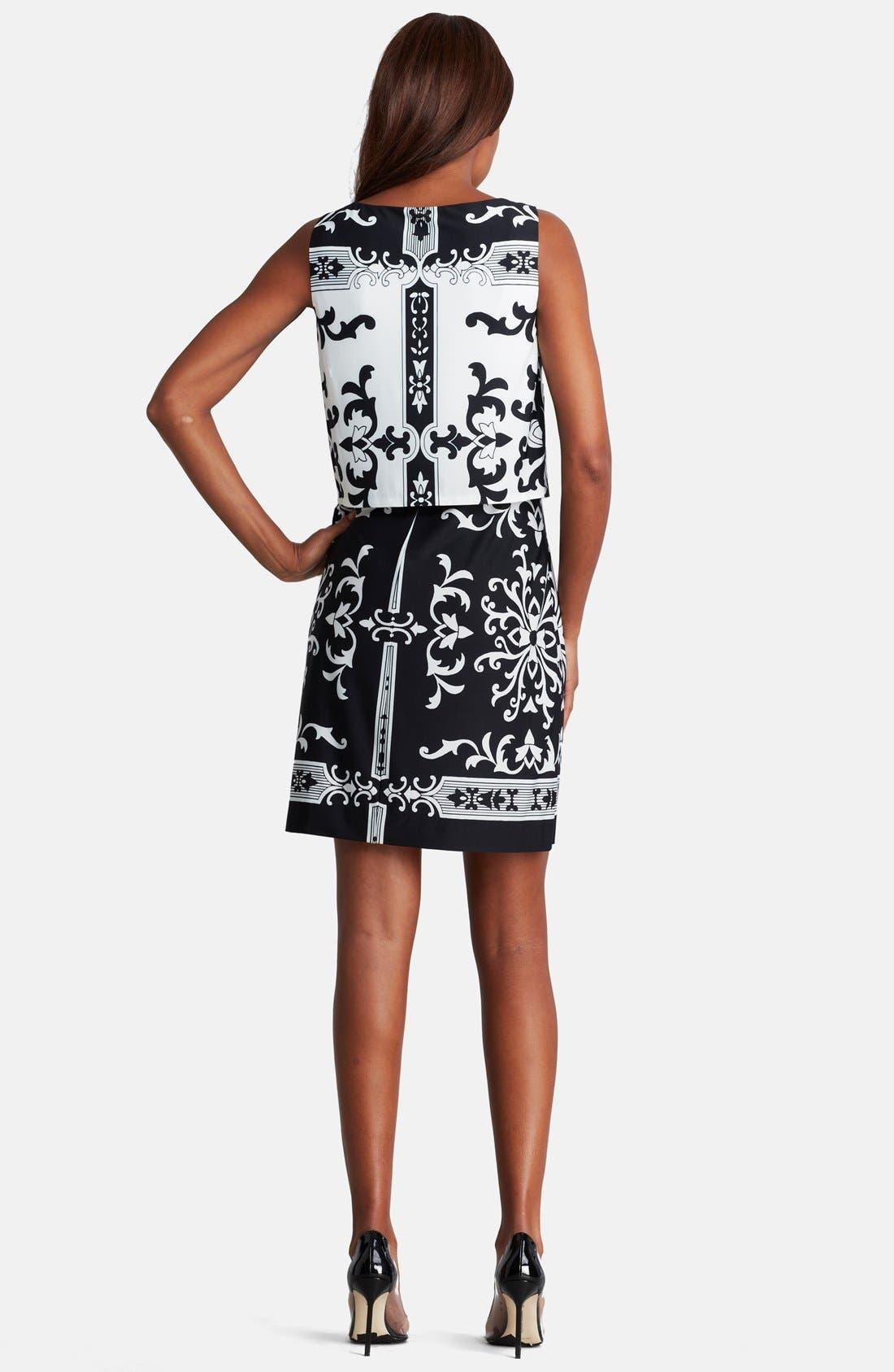 Alternate Image 2  - Donna Morgan Print Jersey Shift Dress (Regular & Petite)