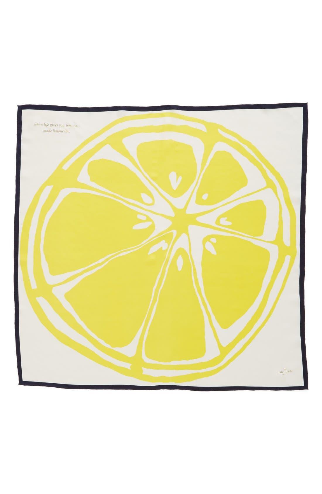 Alternate Image 2  - kate spade new york 'lemon slice' silk scarf