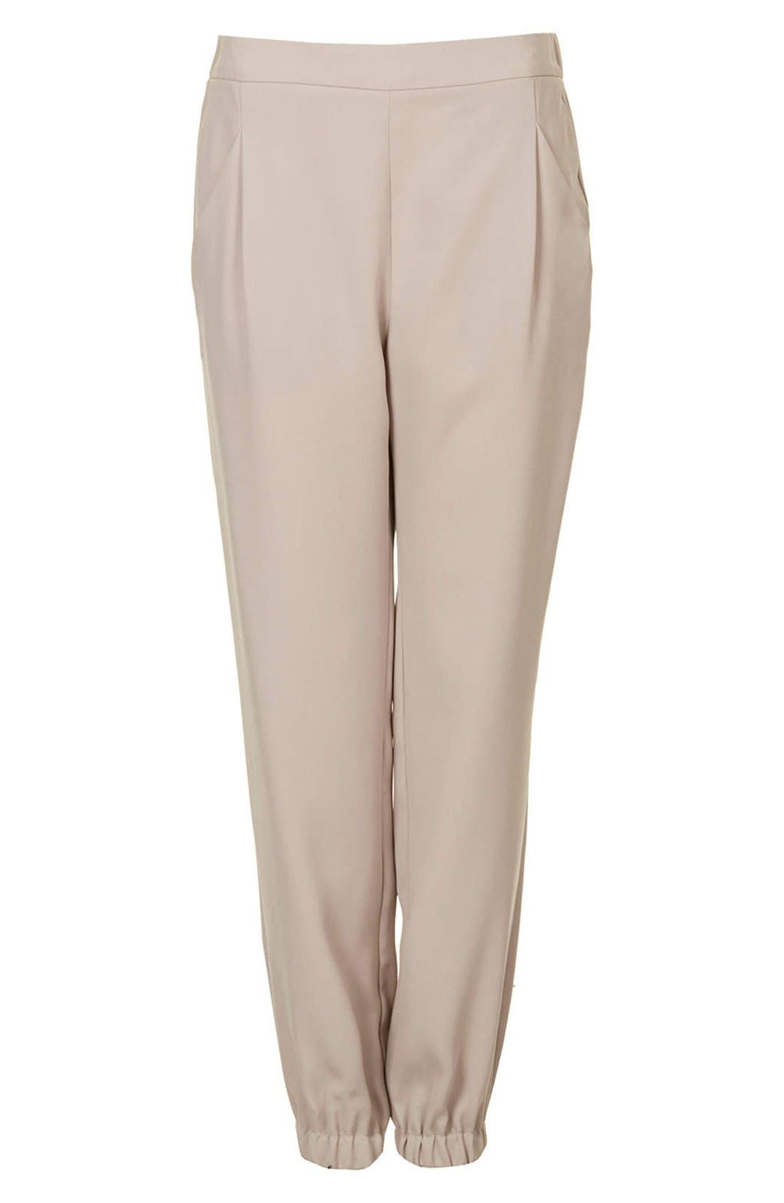 Alternate Image 3  - Topshop Tapered Crepe Track Pants
