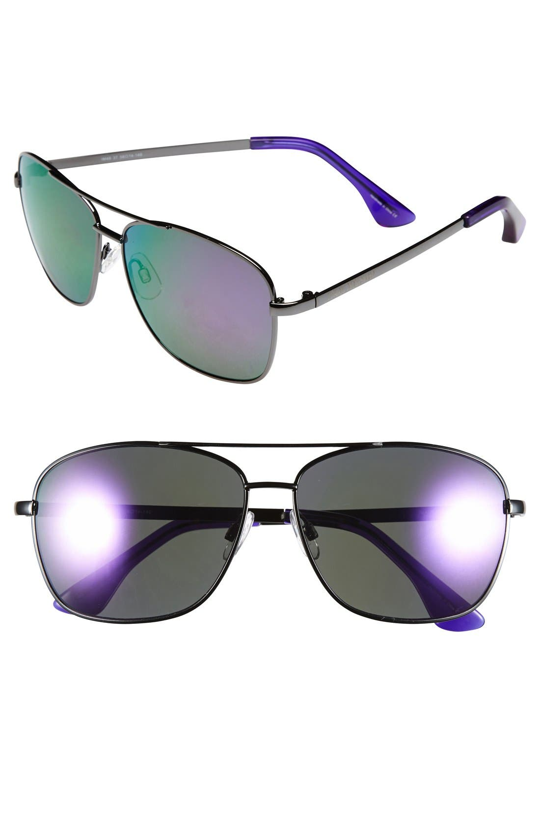 Alternate Image 1 Selected - Isaac Mizrahi New York 58mm Aviator Sunglasses