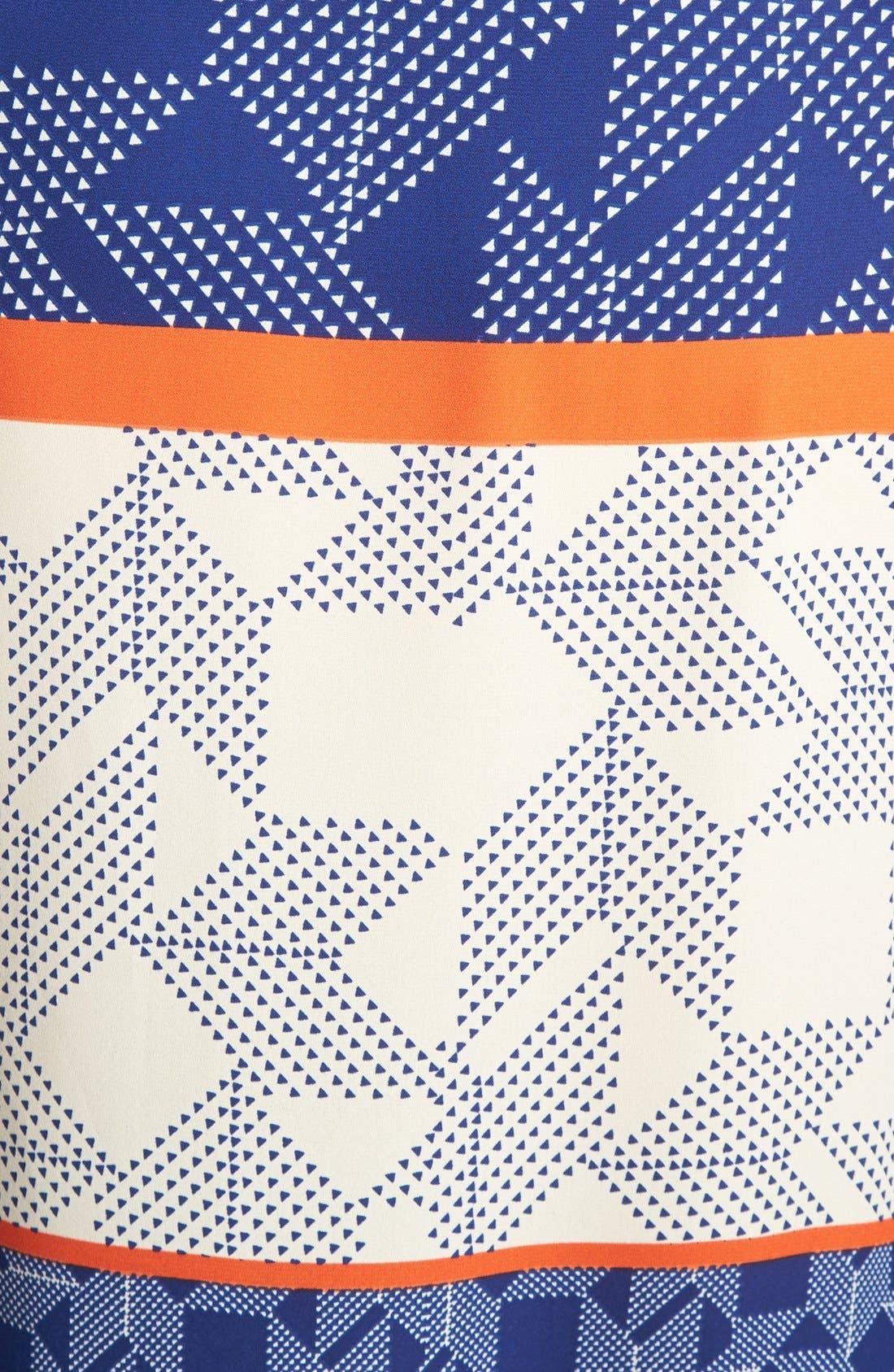 Alternate Image 3  - Bobeau Contrast Trim Crepe T-Shirtdress
