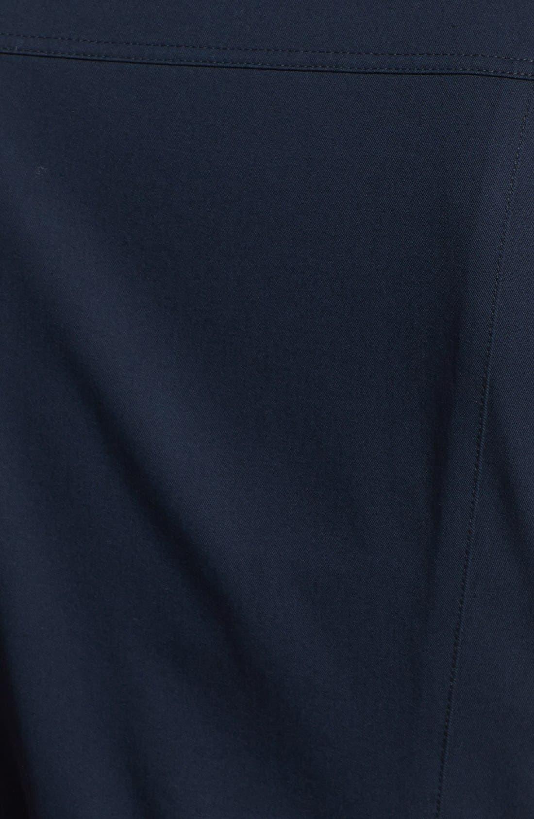 Alternate Image 3  - Lafayette 148 New York Roll Sleeve Polished Twill Shirtdress