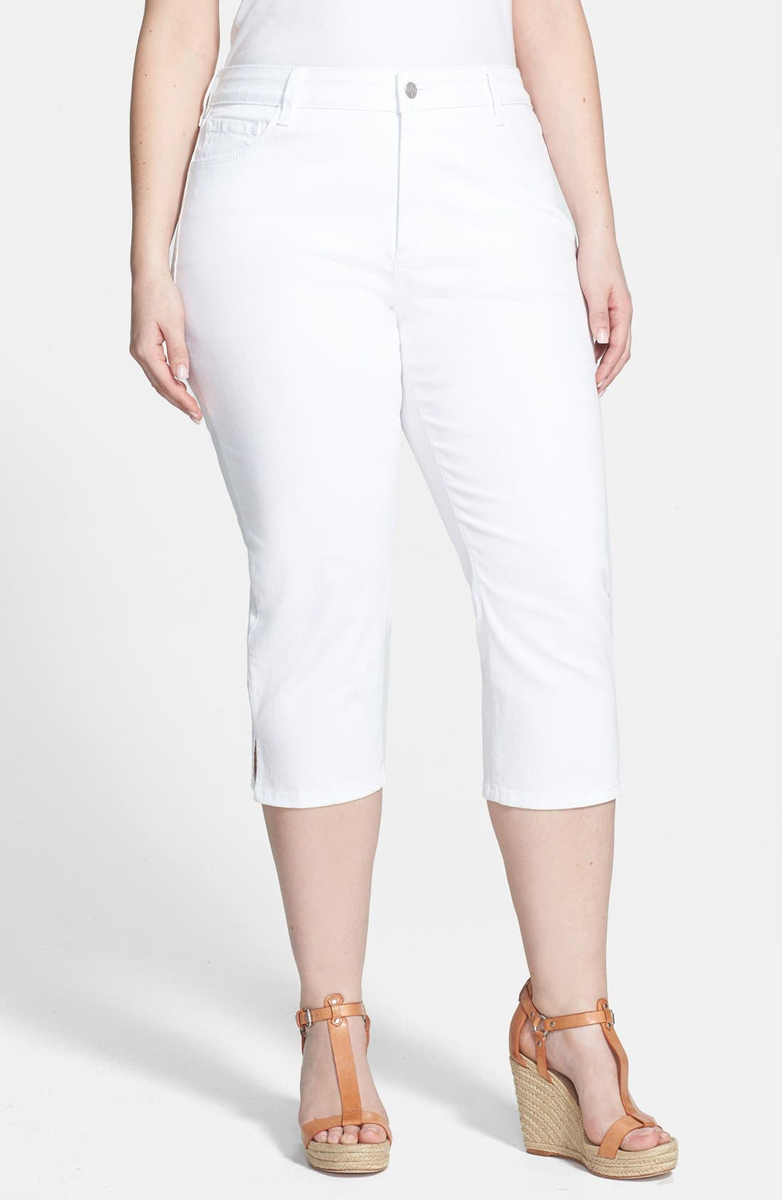 Alternate Image 1 Selected - NYDJ 'Hayden' Stretch Cotton Crop Pants (Plus Size)