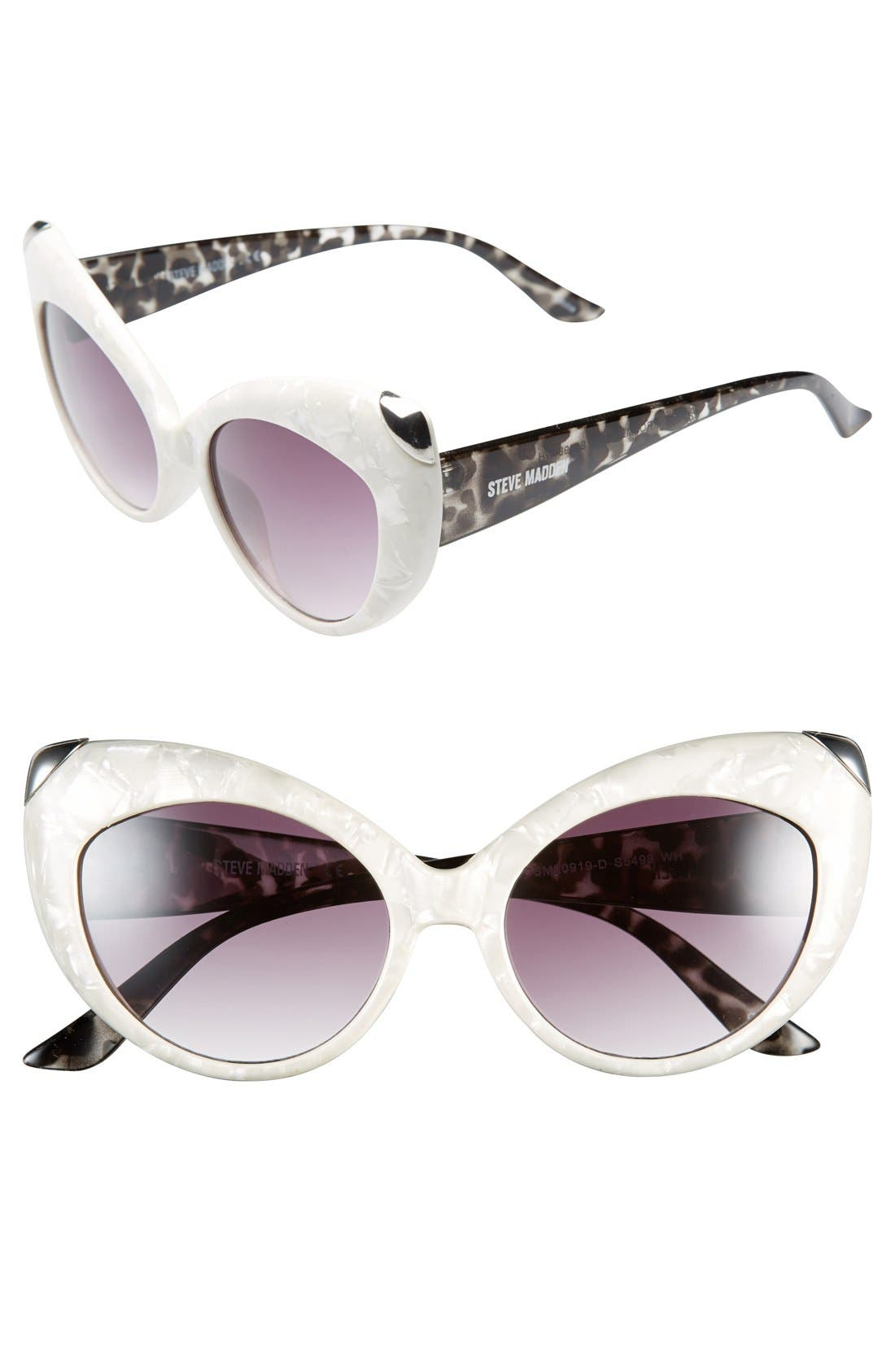Main Image - Steve Madden 55mm Cat Eye Sunglasses